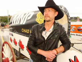 Calgary born country music star Paul Brandt poses for a photo on the Stampede Grounds. Brandt is using his voice to raise awareness for his #NotInMyCity campaign focused on eliminating human trafficking and acts of children being exploited for sex in Canada. Monday, July 8, 2019. Brendan Miller/Postmedia