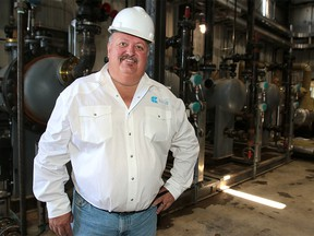 Don Allan, President, Ceo and Chairman of Cielo Waste Solutions poses for a photo at the grand opening of its Aldersyde Refinery, the  first of five planned green refineries in Alberta that will transform landfill waste Thursday, July 11, 2019. Dean Pilling/Postmedia