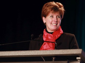 Federal Agriculture Minister Marie-Claude Bibeau speaks at the Advancing Women in Agriculture Conference in Calgary on Tuesday March 12, 2019.
