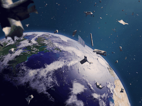 """The total number of """"debris objects"""" in orbit is currently estimated to be around 129 million, including 34,000 objects greater than 10 centimetres in size."""