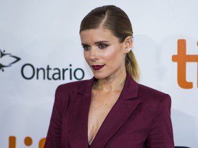 Kate Mara on the red carpet for My Days of Mercy during the Toronto International Film Festival in Toronto on Sept. 15, 2017.