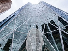Pictured is Bow Building in Downtown Calgary on Thursday, October 31, 2019. Encana Corporation, a leading oil and gas producer in Calgary, is moving its headquarters from Bow Building to the U.S. and is changing name to Ovintiv.  Azin Ghaffari/Postmedia Calgary