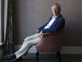 A portrait of author Ian McEwan at The Soho Hotel in London.
