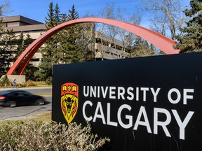 Pictured is University of Calgary entrance arch on Thursday, October 24, 2019. Azin Ghaffari/Postmedia Calgary
