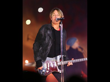 Keith Urban headlines the halftime show at the 107th Grey Cup in Calgary Sunday, November 24, 2019. Jim Wells/Postmedia