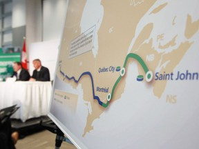 """The Supreme Court """"came right back, slam dunk, saying that no province has the right to block a pipeline because those are, under the constitution, inter-provincial pipelines are the exclusive power of the federal government,"""" Jason Kenney said of Quebec's move to block the Energy East pipeline, which was subsequently cancelled."""