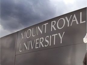 The Mount Royal University sign.