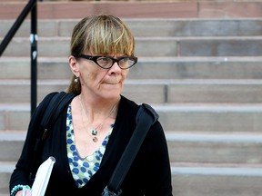 Journalist and columnist Christie Blatchford, photographed outside the Ontario Court of Justice in Toronto on Sept. 22, 2017.