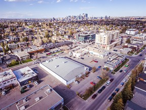 Aerial photo of the lot being purchased by Calgary Co-op. Supplied by Calgary Co-op