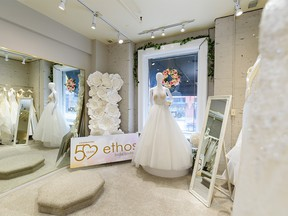 Pictured on Friday, March 13, 2020 is Ethos bridal boutique, which is celebrating its 50th year.  Azin Ghaffari/Postmedia