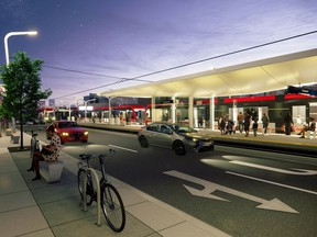 An early rendering of what the planned Green Line station might look like at 16th Avenue N.