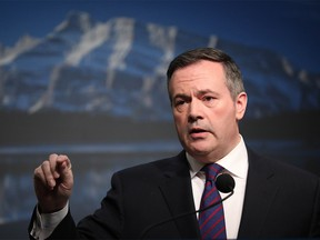 Alberta premier Jason Kenney during a media availability on Monday March 9, 2020, in Calgary regarding the recent global economic events. Al Charest / Postmedia