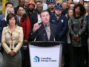Alberta Premier Jason Kenney speaks at the official launch of the Canadian Energy Centre on Dec. 11, 2019.