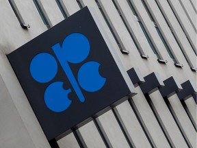 FILE PHOTO: The logo of the Organisation of the Petroleum Exporting Countries (OPEC) sits outside its headquarters ahead of the OPEC and NON-OPEC meeting, Austria December 6, 2019. REUTERS/Leonhard Foeger/File Photo ORG XMIT: FW1