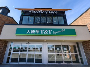 Pictured is the T&T Supermarket at Pacific Place Mall which is temporarily closed after an employee tested positive for COVID-19.
