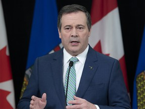 Premier Jason Kenney speaks during an update, from Edmonton on Thursday, April 30, 2020, on COVID-19 and the staged relaunch strategy for Alberta's economy. (photography by Chris Schwarz/Government of Alberta)