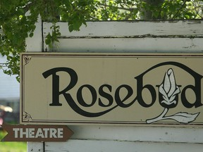 The logo for the theatre in the village of Rosebud.