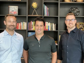 The founders of ICwhatUC, from left, Luke Krueger, Guillermo Salazar and Danny Way.