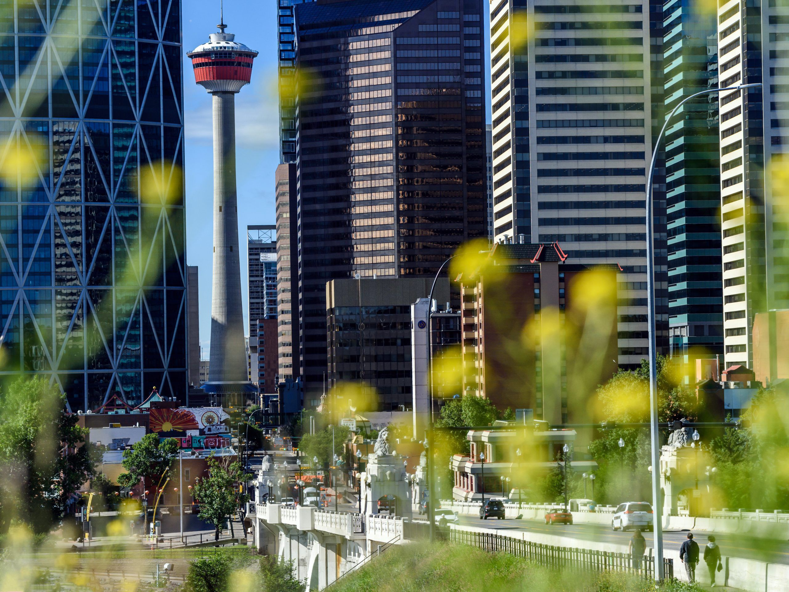 Calgary Downtown skyline and Centre Street Bridge was photographed on Friday, July 10, 2020. Azin Ghaffari/Postmedia