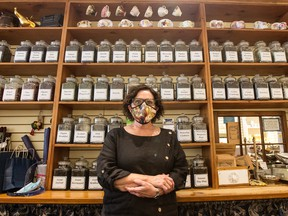Barbara DeAngelis, owner of Pippins Tea Company, Inc., a tea and gift shop in Toronto's The Beach neighbourhood.