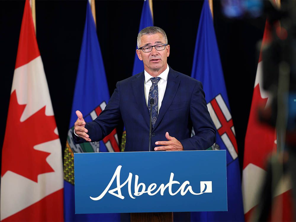 Alberta Finance Minister Travis Toews — Alberta's deficit is forecast to hit $24.2 billion in the wake of the COVID-19 pandemic's economic fallout, coupled with a crash in oil prices, the UCP government announced Thursday in its 2020-21 first quarter fiscal update.