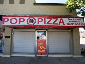 The Pop 'N Pizza restaurant in Erin Woods is seen on Thursday, August 27, 2020 after it was closed due to health violations on Aug 24, 2020.