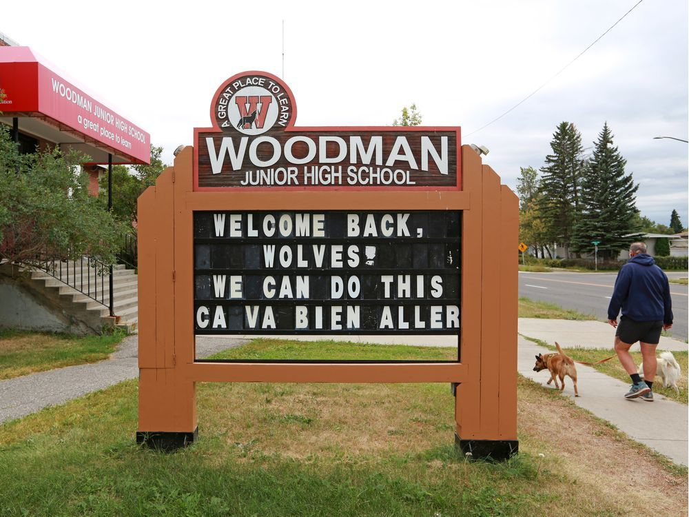 Woodman Junior High School in Haysboro is where Collin Highet's daughter is enrolled in the Late French Immersion program. Her Hub schooling application with CBE was denied Friday, forcing her parents to make a quick decision on whether to send their daughter to her alternative program school in-person amid the COVID-19 pandemic.