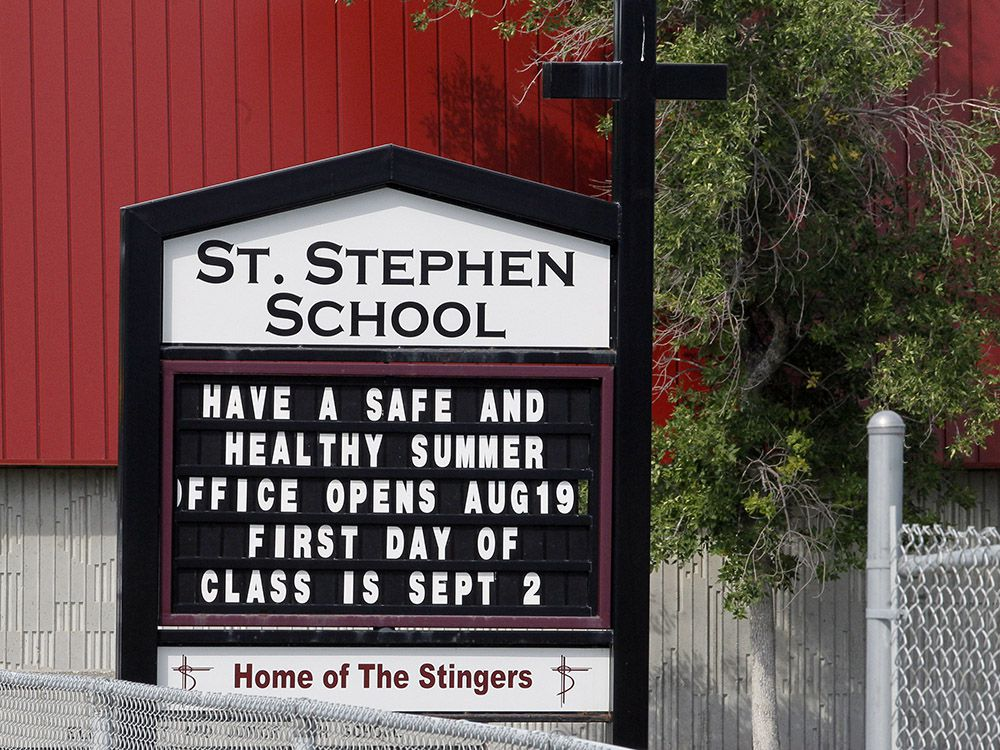 St. Stephen School in southwest Calgary announces it is ready to open on Sept. 2, 2020.