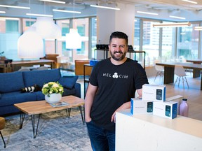 Helcim CEO Nicolas Beique was photographed in the company's new offices in Millennium Tower in downtown Calgary on Tuesday, September 15, 2020.