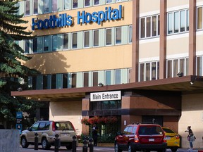 The Foothills Hospital in Calgary was photographed on Monday, September 21, 2020. Alberta Health Services confirms two units at the hospital have outbreaks of COVID-19.