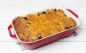 Ham Broccoli Strata for ATCO Blue Flame Kitchen for October 14, 2020; image supplied by ATCO Blue Flame kitchen
