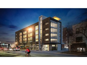 An artist's rendering of The Fifth, a five-storey mixed-use retail and residential development by Arlington Street at 5th Street and 17th Avenue S.W.