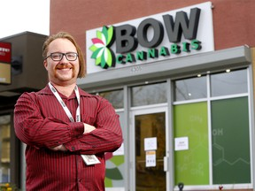 Bow Cannabis manager Jamie Ouellette is wary as the province will lift limits of cannabis store ownership in Alberta on Nov. 1 in Calgary on Tuesday, October 13, 2020.