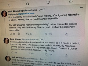 A series of tweets from an Ottawa professor arguing Alberta does not deserve federal assistance in the form of field hospitals is drawing near universal condemnation.