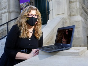 Marilyn Field, executive director of EducationMatters is looking for tech support for at-risk students amid demands of online learning in Calgary on Thursday, Dec. 10, 2020.