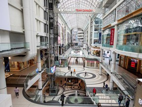 The Toronto Eaton Centre, a Cadillac Fairview holding, seen on the day Ontario declared a state of emergency over the coronavirus.