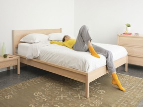 The Ora bed by EQ3 provides a perfect place to sprawl.