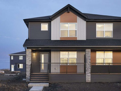 The exterior of the Eden V show home by Shane Homes in Cornerstone.