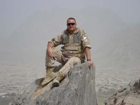 Master Cpl. Scott Atkinson in Afghanistan