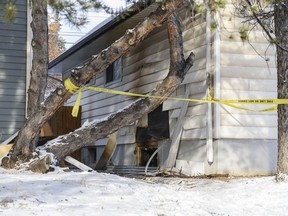 Pictured is the aftermath of a fire at 10000 block of Elbow Drive S.W. on Tuesday, February 23, 2021. Azin Ghaffari/Postmedia