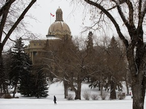 A lone skater enjoys the ice rink below the Alberta Legislature, in Edmonton Wednesday Jan. 27, 2021. We have two years to figure out the future of Alberta before separation is potentially put on a referendum question, says columnist Danielle Smith.