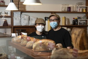 Bread Culture's Sunny and Thomas Park in their bakery in Calgary. Azin Ghaffari/Postmedia