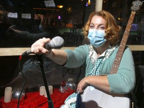 Musician, Eve Hell is lobbying the government to lift restrictions on live musice in Calgary on Tuesday, March 9, 2021. Darren Makowichuk/Postmedia
