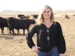 Photo of Holly Sparrow, president of the Young Cattleman's Council.