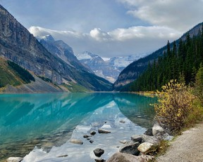 The world famous Lake Louise is pictured here in Banff National Park.