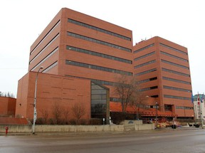 The municipal Jubilee Centre and provincial building on Franklin Avenue in downtown Fort McMurray on Sunday, April 19, 2020. Laura Beamish/Fort McMurray Today/Postmedia Network ORG XMIT: POS2004202158266292