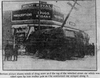A picture from the Dec. 12, 1919 Calgary Herald showing a streetcar crash at the corner of 14 Street and 17 Avenue S.W.