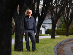 David Bertram was photographed near his southwest Calgary home on Saturday, May 8, 2021. Bertram is hoping he can get his second dose of AstraZeneca vaccine before cancer treatments this summer will make him unable to take the vaccine.