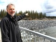 Dick Koetsier, Developer of Gateway Village, poses for a photo near the future development. Gateway Village is a large development that will include a hotel, conference centre, shops, housing and provide a common space in Bragg Creek for festivals and events. Tuesday, May 11, 2021.
