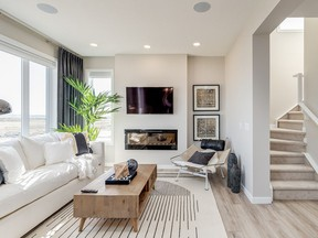 The great room in the Stanley show home by Excel Homes in Walden.